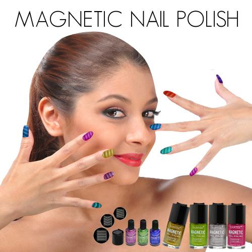 Elegant magnetic nail polish photographs taken this month